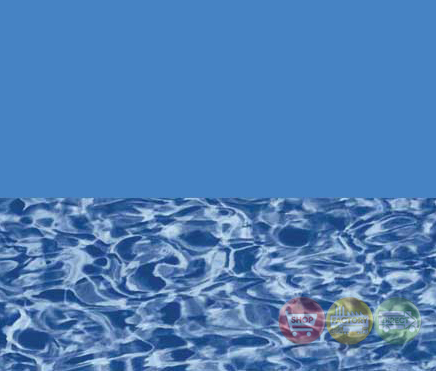 Overlap Above Ground Pool Liner Blue Wall Swirl Bottom Shop Factory Direct Free Shipping
