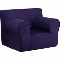 Oversized Solid Navy Blue Kids Chair