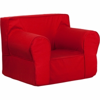Oversized Solid Red Kids Chair