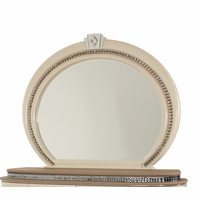 Overture Glamour Oval Dresser Mirror In Champagne With Crystal Trim
