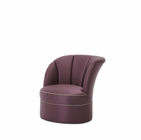 Overture Glamour Purple High Back Swivel Tub Chair Right Arm Facing