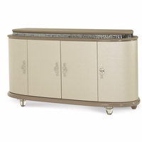 Overture Upholstered Glamour Cristal Beige Dresser With Jewelry Storage