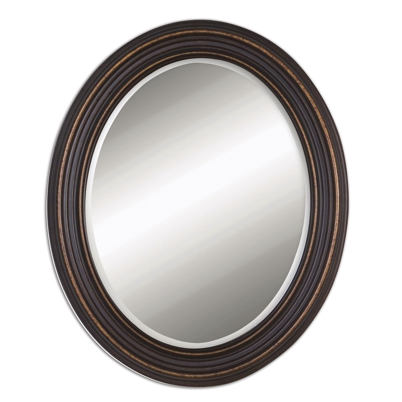 Ovesca traditional bronze oval mirror 14610 for Traditional mirror