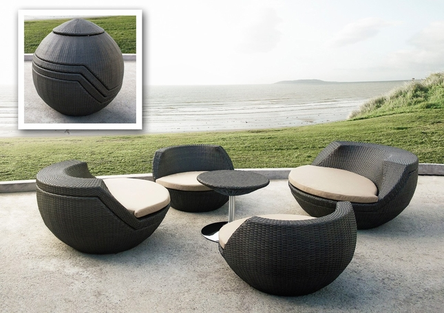 Attractive Ovum Modern 5 Piece Table U0026 Chairs Egg Shape Patio Set, VGMNRM 7654