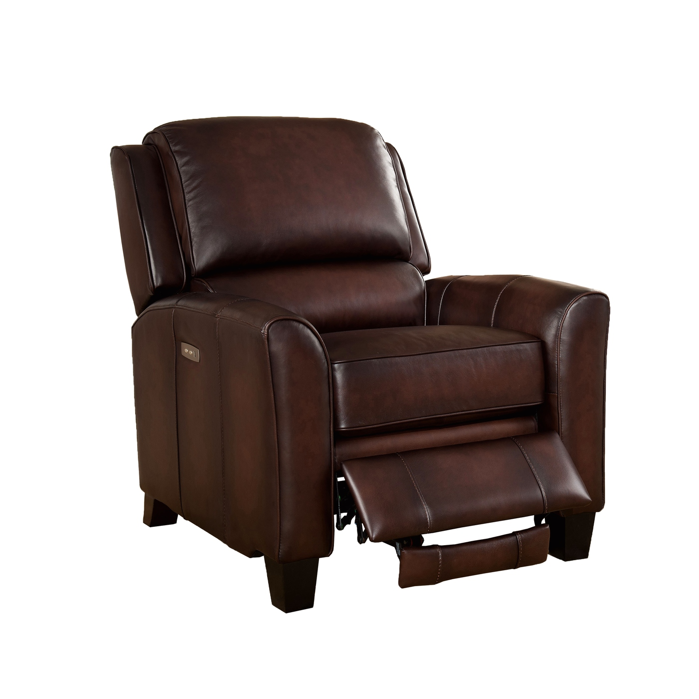 Oxford Traditional Genuine Brown Leather Powered Reclining