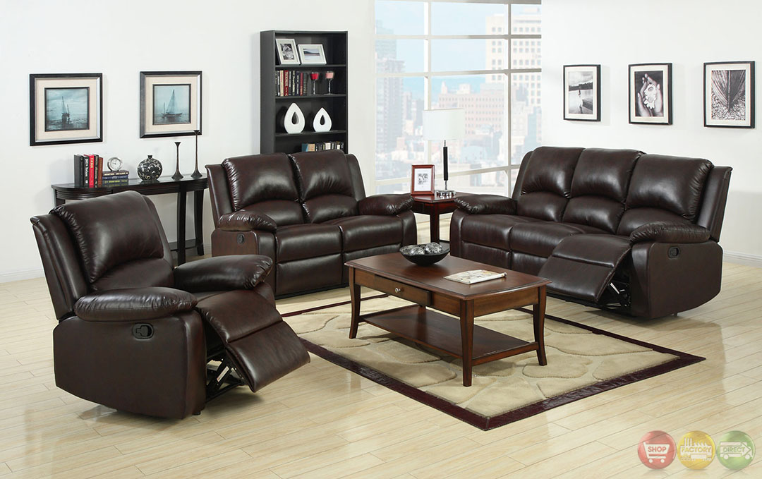 Oxford traditional rustic dark brown living room set with for Plush living room furniture