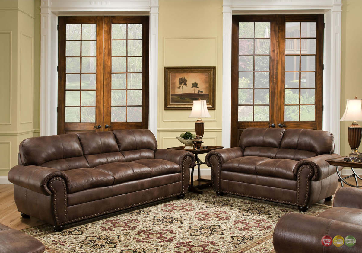 Padre chocolate brown living room furniture set w - Chocolate brown and white living room ...