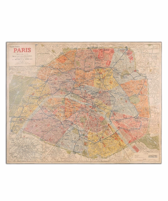 Paris Nouveau Plan Giclee Canvas Artwork 33800