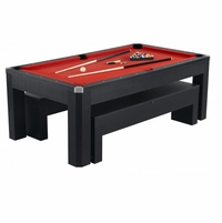 Park Avenue Multi Game 7 Ft Pool Table, Bench, Ping Pong, Accessories