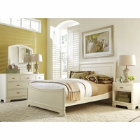 Park City Contemporary White Full Sleigh Youth Bed