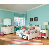 Park City White Full Bookcase Storage Lounge Youth Bed