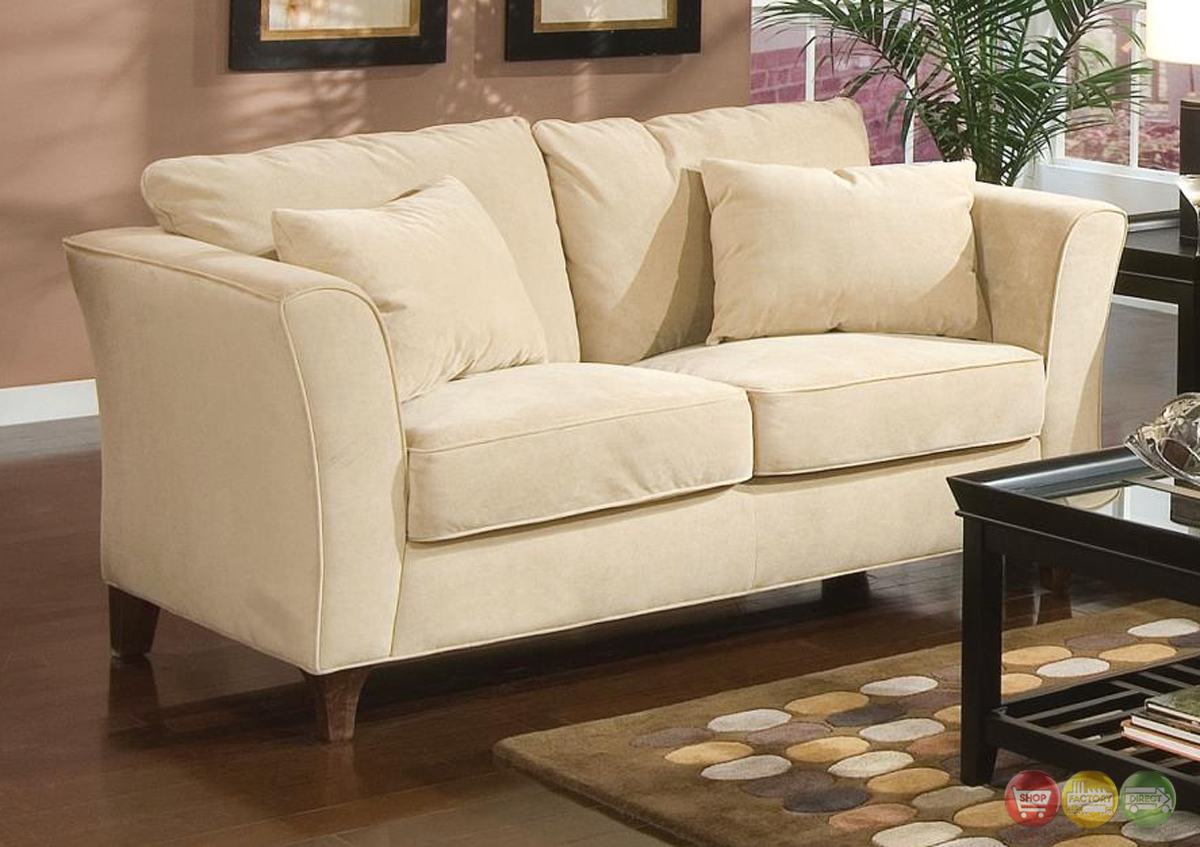 Park Place Contemporary Cream Velvet Loveseat 500232 Coaster