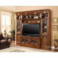 Parker House Barcelona Library 60 Inch TV Entertainment Center Wall Unit