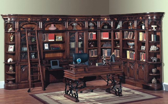 - Parker House Barcelona Spanish Antique Library Wall BAR-PACK-G