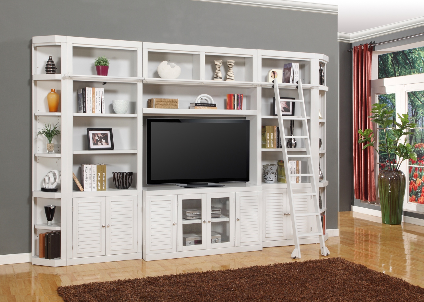 Parker House Boca Cottage White 56 Quot Entertainment Tv Wall Unit