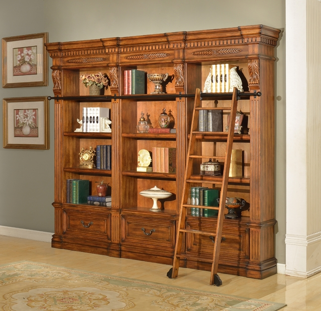 Parker House Grand Manor 3 Piece Museum Bookcases GGRA-PACK-C