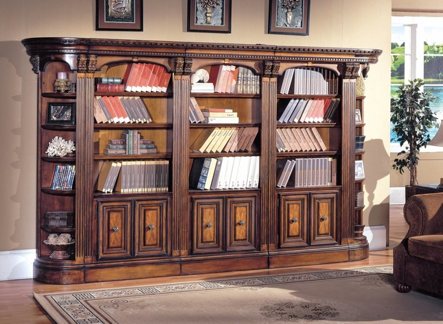 Parker House Huntington Library 5 Piece Bookcase Wall HUN-PACK-I