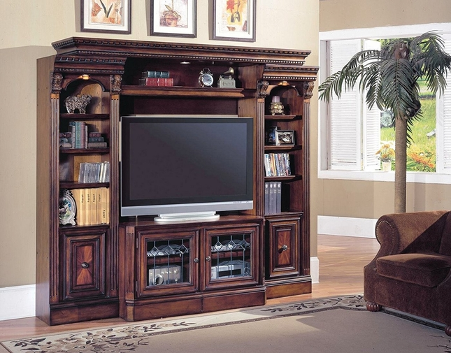 "Huntington Space Saver Expandable 48""-72""Wall Unit With Antique Finish"