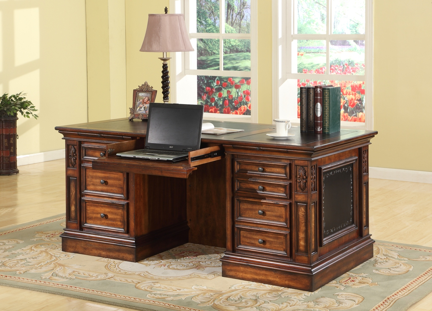 Parker House Leonardo Double Pedestal Executive Desk Leo 480 3