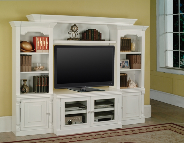 "Premier Alpine Expandable 43"" - 60"" Console White Entertainment Wall Unit"
