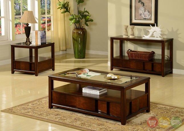 Parker House Transitional Coffee Occasional Tables Set Tosl