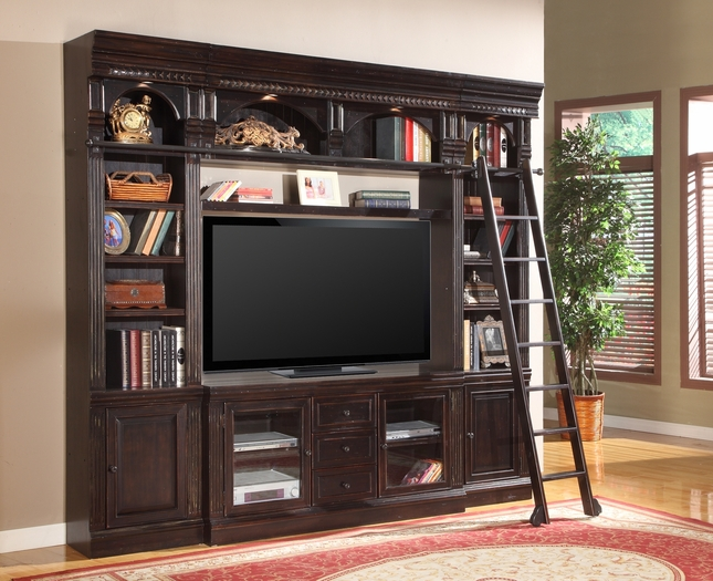 "Venezia Space Saver 60"" Entertainment Wall Unit with Vintage Finish"