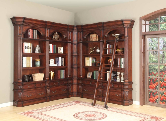 Parker House Versailles Museum Library Bookcase and Ladder VER-Pack-E