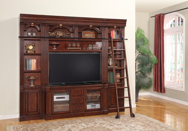 "Parker House Wellington 60"" Space Saver TV Wall Unit in Chestnut Finish"