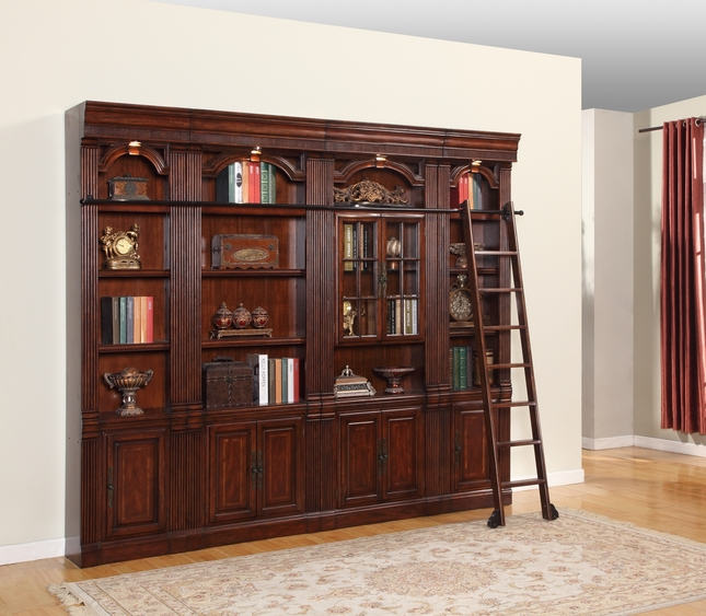 Parker House Welington Library Bookcase Inset 4 Pc Wall WEL-Pack-F