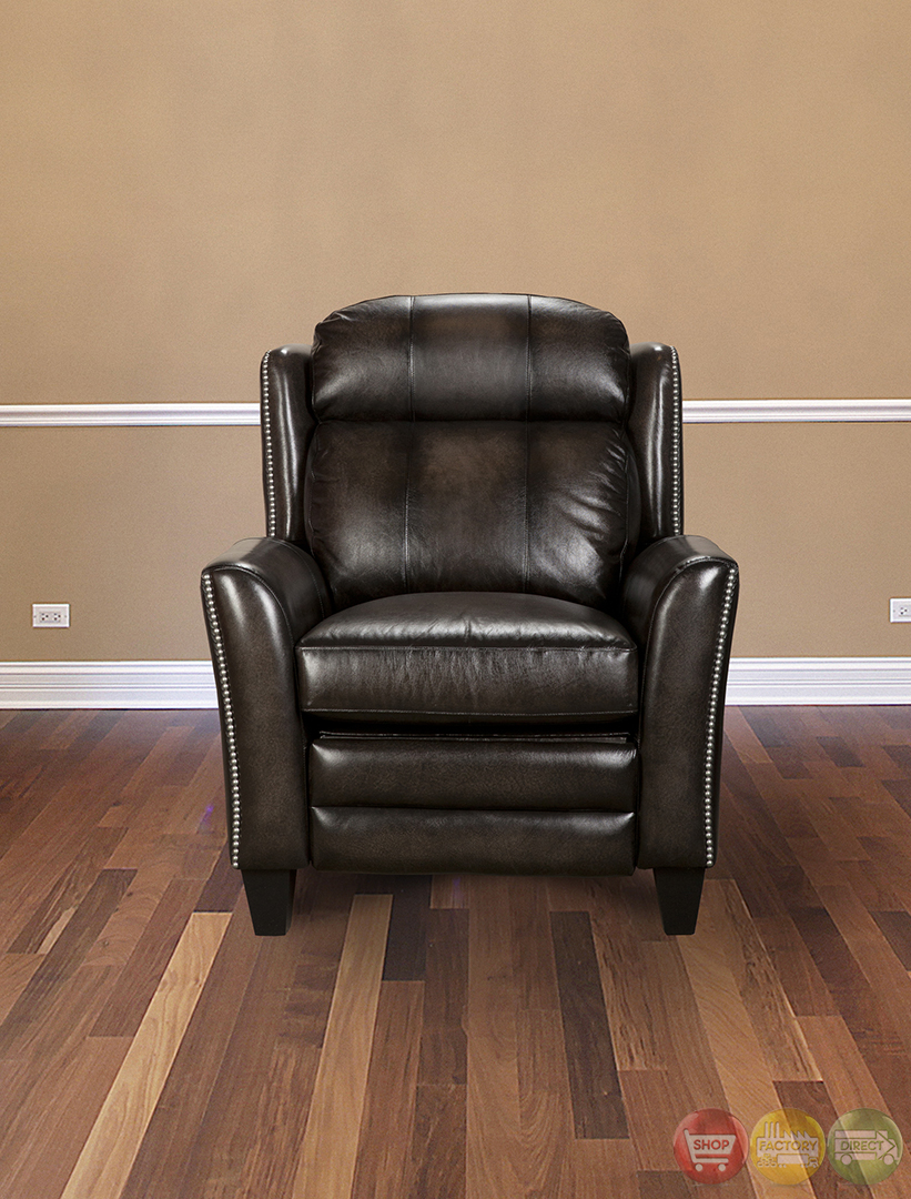 Parker Living Darwin Smoke Wipe Leather Reclining Chair