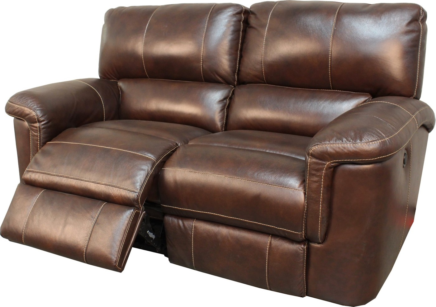 Parker Living Hitchcock Cigar Brown Leather Reclining Sofa