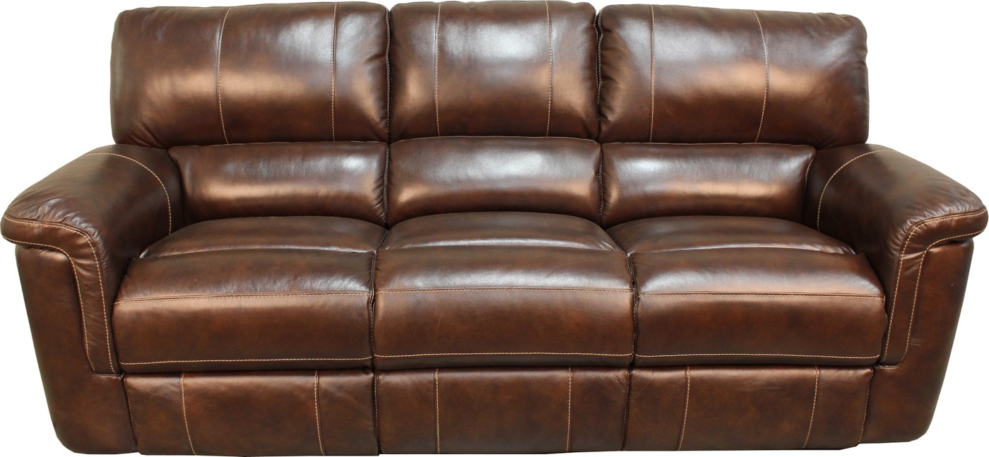 Parker Living Hitchcock Cigar Brown Leather Reclining Sofa ...