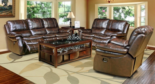 Parker Living Juno Nutmeg Brown Reclining Sofa Set MJUN#832P-NU