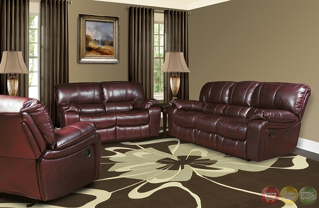 Superbe Parker Living Jupiter Black Cherry Leather Power Reclining Sofa Set  MJUP#832P BC
