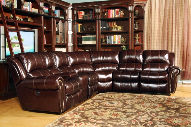 Parker Living Poseidon Dark Brown Genuine Leather Sectional Sofa Set
