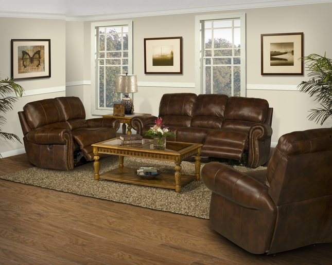 Parker Living Thor Reclining Leather Sofa U0026 Love Seat Set Tobacco