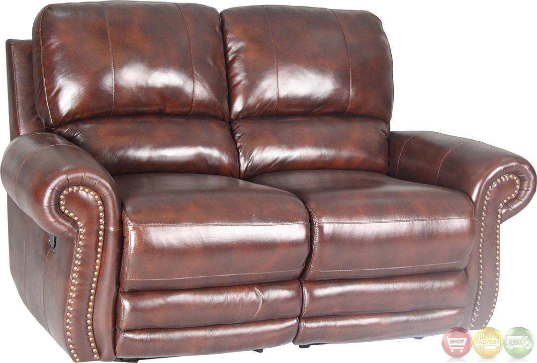 parker living thor tobacco brown leather reclining sofa set mtho 832p to. Black Bedroom Furniture Sets. Home Design Ideas