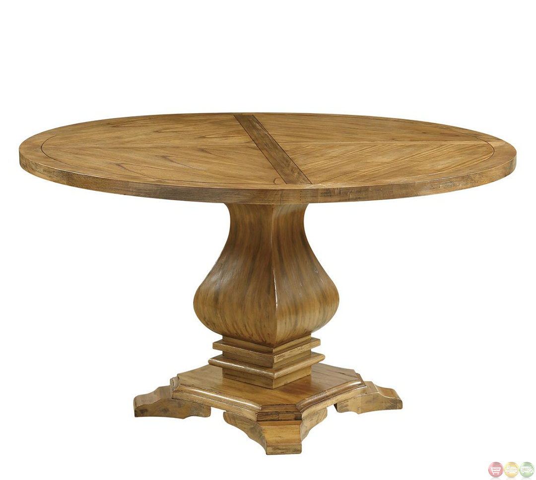 Parkins round pedestal table dining room set Round dining table set