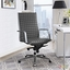 Pattern High Back Office Chair With Upholstered Boxed Pattern Vinyl , Gray