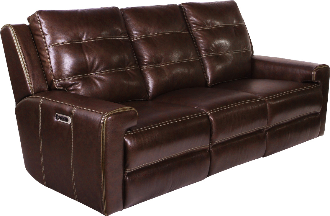 Patterson Clydesdale Leather Power Dual Reclining Sofa