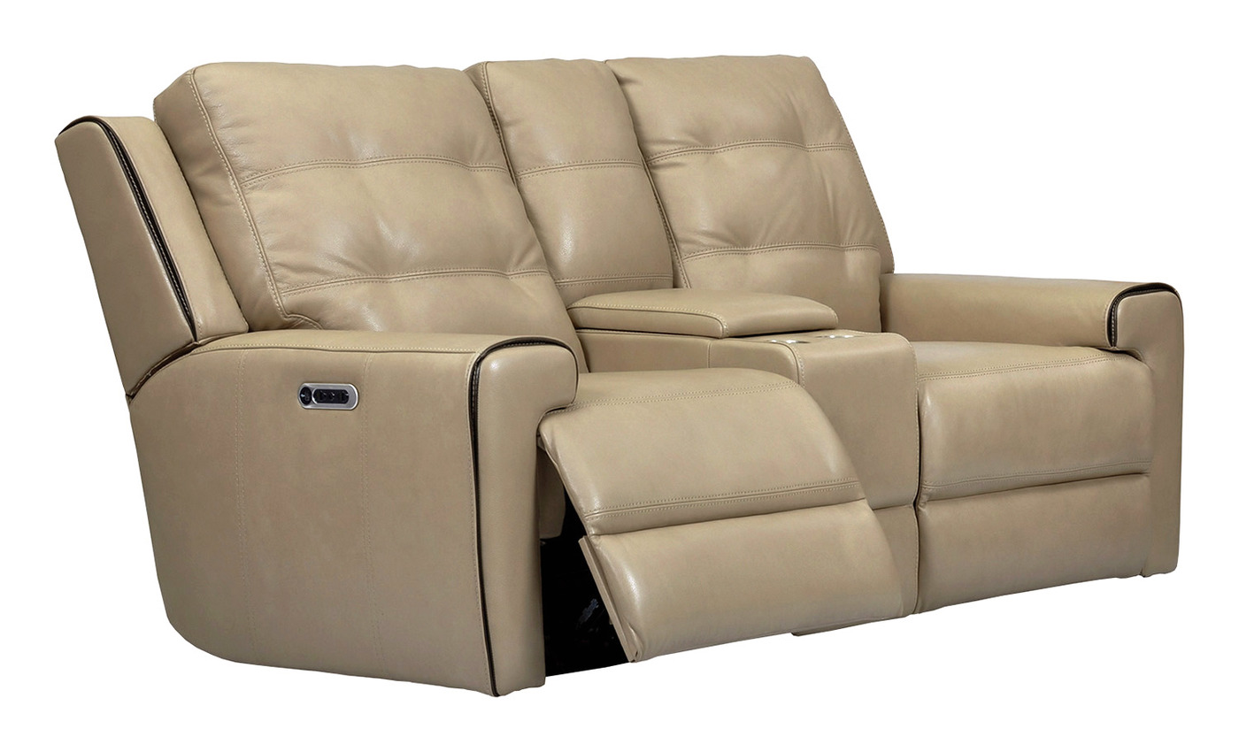 timber catalina catnapper l loveseat reclining power htm in leather console