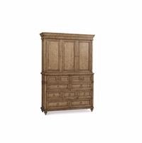 Pavilion 9-Drawer Coastal Pine Master A/V Chest in Barley Finish