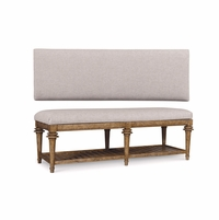 Pavilion Barely Finished Bed Bench With Grey Cushioned Top