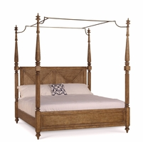 Pavilion Coastal California King Canopy Bed In Pine Barley Finish