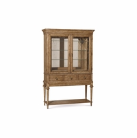 Pavilion Coastal Pine and Glass Bar Cabinet With Natural finish
