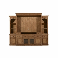 Pavilion Coastal Pine Entertainment Center With Natural Barley Finish