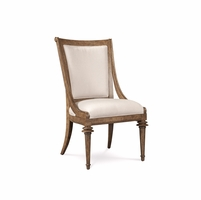 Pavilion Upholstered Back Coastal Pine Side Chair With Barley Finish