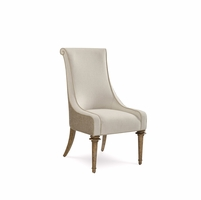 Pavilion Upholstered Pine Host Chair With Barely Finish