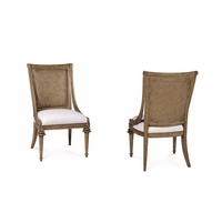 Pavilion Woven Back Coastal Pine Side Chair With Barley Finish