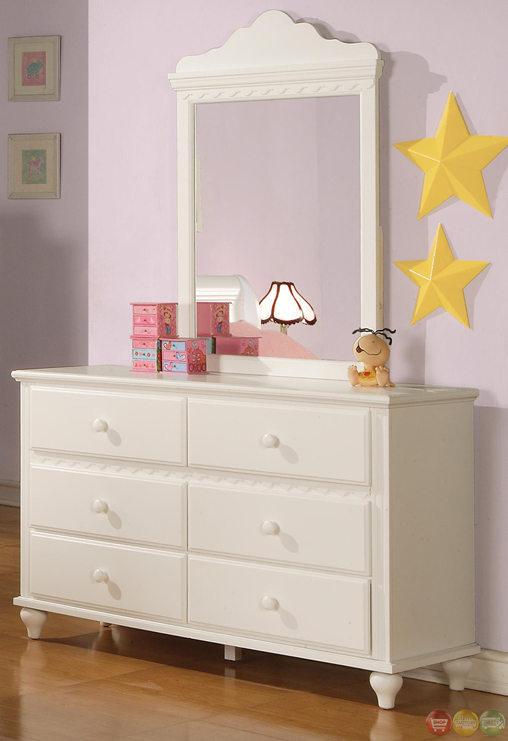 Pepper white traditional girls sleigh bedroom set - Traditional white bedroom furniture ...